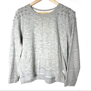 Abercrombie and Fitch gray beaded sweatshirt